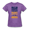 The Hope Of Glory Crist is in you - purple heather