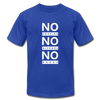 No Smoking, No Alcohol, No Drug - royal blue