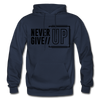 Never Give Up - navy