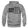 Never Give Up - graphite heather