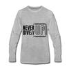 Never Give Up - heather gray