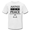 Justice For Peace - white