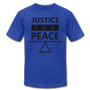 Justice For Peace - royal blue