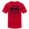 Justice For Peace - red