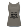 Justice For Peace - asphalt gray