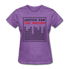 Justice For The Nation - purple heather