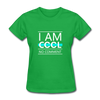 I Am Cool No Comment - bright green