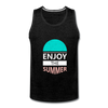 Enjoy The Summer - charcoal gray
