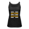 Action = Success - charcoal gray