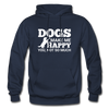 Dogs Make Me Happy You, Not So Much - White - navy