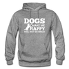 Dogs Make Me Happy You, Not So Much - White - graphite heather