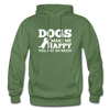 Dogs Make Me Happy You, Not So Much - White - military green