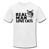 Real Man Love Cats - white
