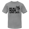 Real Man Love Cats - slate