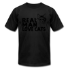 Real Man Love Cats - black
