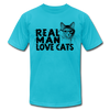 Real Man Love Cats - turquoise