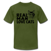 Real Man Love Cats - olive