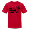 Real Man Love Cats - red