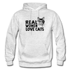 Real Women Love Cats - light heather gray