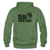 Real Women Love Cats - military green