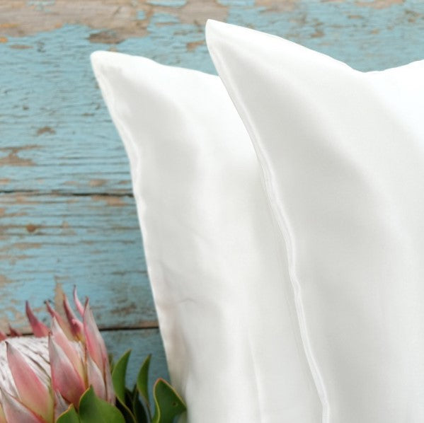 Pillows with silk casing