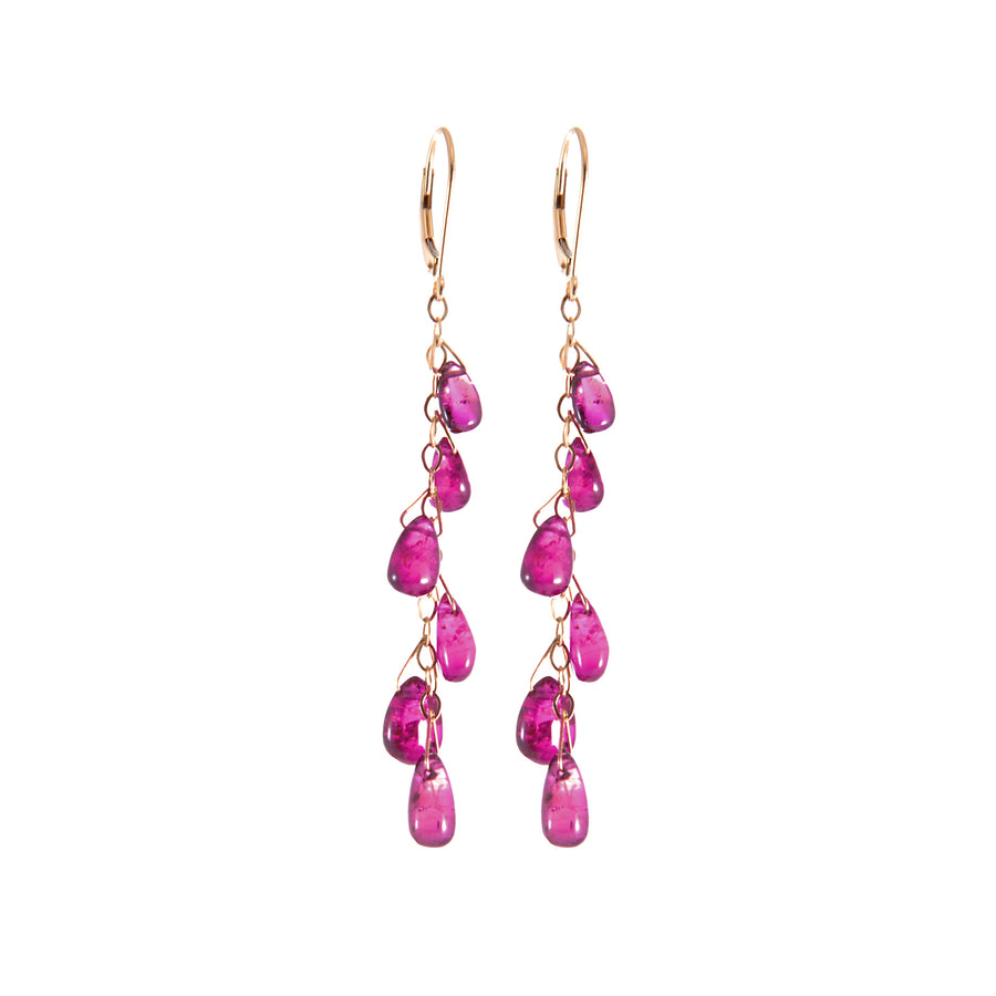 RUBELLITE BRIOLETTE DROP EARRINGS