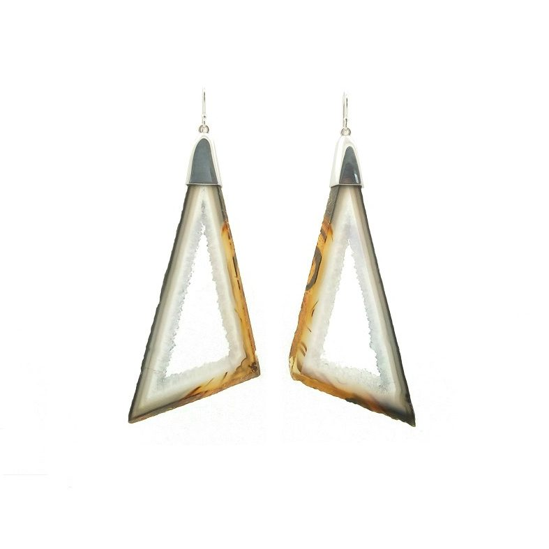 POLYHEDRAL AGATE EARRINGS