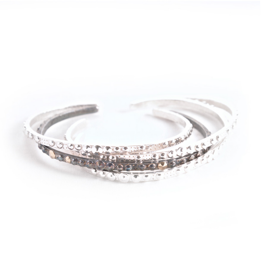 STERLING SILVER SEA URCHIN SLIM CUFF