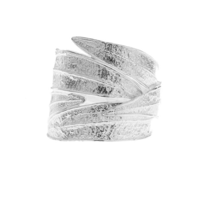 OLEANDER LEAF WRAP RING