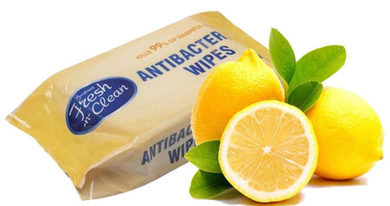 Fresh-n-Clean Lemon Scent Antibacterial Hand Wipes - 4 Packs (320 Wipes) - Osung USA