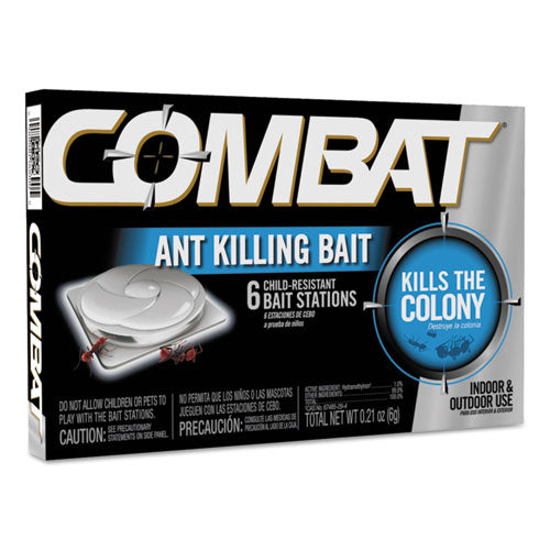 Combat Ant Killing System, Child-resistant, Kills Queen And Colony, 6-box