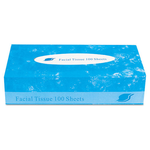 Facial Tissue,  2-ply, White, Flat Box, 100 Sheets-box, 30 Boxes-carton