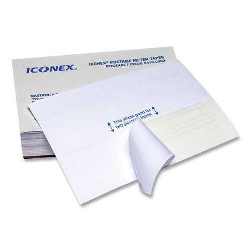 Postage Meter Labels, Double Tape Strips, 4 X 5.5 - 1.75 X 5.5, White, 2-sheet, 150 Sheets-pack