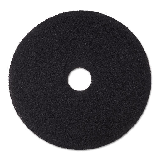 "Low-speed Stripper Floor Pad 7200, 20"" Diameter, Black, 5-carton"