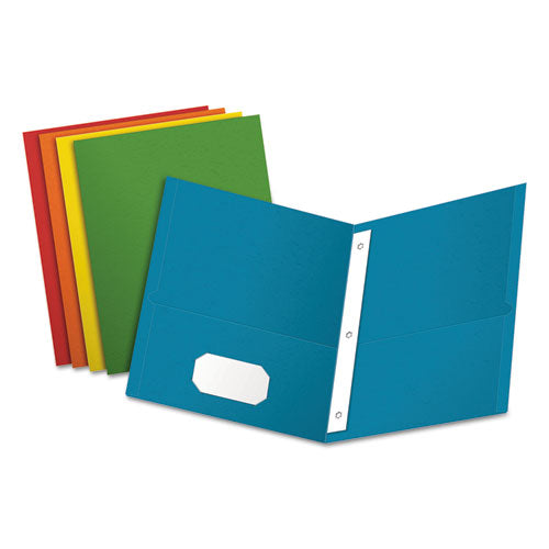"Twin-pocket Folders With 3 Fasteners, Letter, 1-2"" Capacity, Assorted, 25-box"