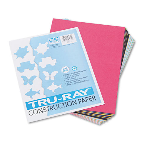 Tru-ray Construction Paper, 76lb, 9 X 12, Assorted Standard Colors, 50-pack