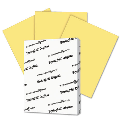 Springhill® Digital Index Color Card Stock, 90lb, 8.5 X 11, Buff, 250-pack