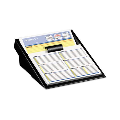 Flip-a-week Desk Calendar Refill With Quicknotes, 7 X 6, White, 2021