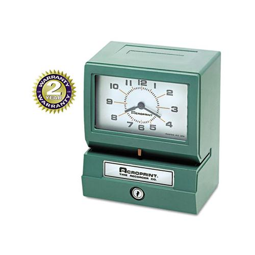 Model 150 Analog Automatic Print Time Clock With Month-date-1-12 Hours-minutes