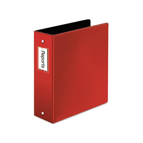 "Premier Easy Open Locking Round Ring Binder, 3 Rings, 3"" Capacity, 11 X 8.5, Red"