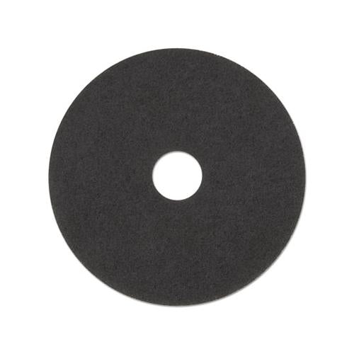 "Low-speed Stripper Floor Pad 7200, 17"" Diameter, Black, 5-carton"