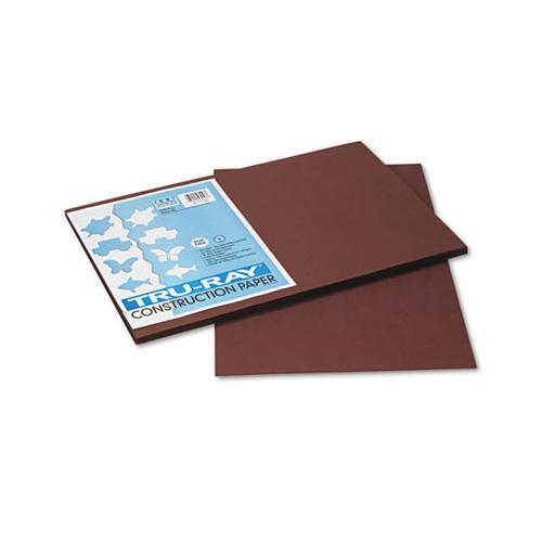 Tru-ray Construction Paper, 76lb, 12 X 18, Dark Brown, 50-pack