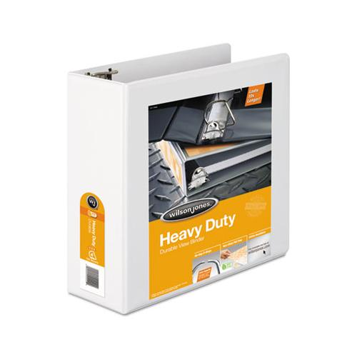 "Heavy-duty D-ring View Binder With Extra-durable Hinge, 3 Rings, 4"" Capacity, 11 X 8.5, White"