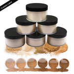 PRIVATE LABEL 100 piece, Wholesale Luxury PREMIUM quality,Matte Finishing Loose Setting Face Powder, Long Lasting and Concealing  (6 shades)