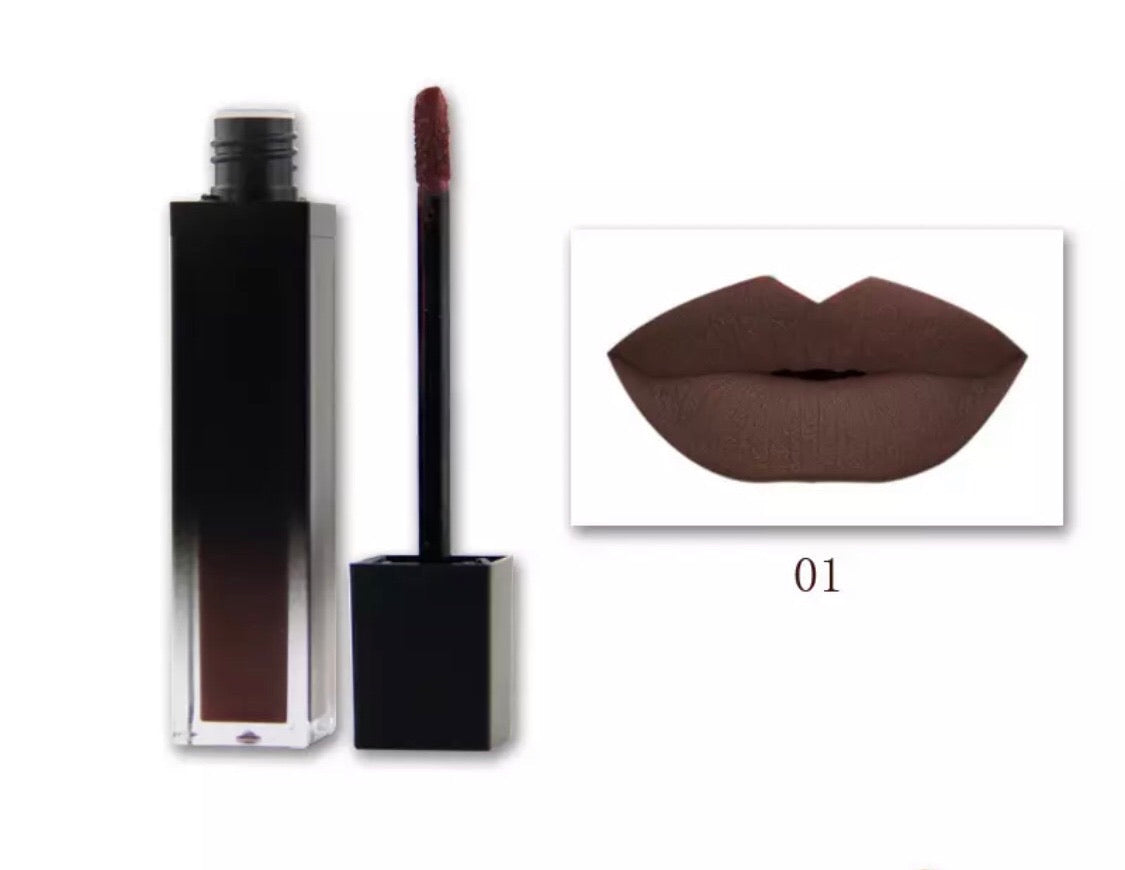 PRIVATE LABEL, Wholesale Luxury PREMIUM quality pre-filled waterproof,  Moist Velvet Nude matte liquid lipstick. 8 colours (Free Shipping)