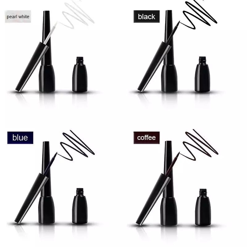 PRIVATE LABEL 100 piece Wholesale PREMIUM Quality, Waterproof, Long Lasting  liquid eyeliner, 4 colours