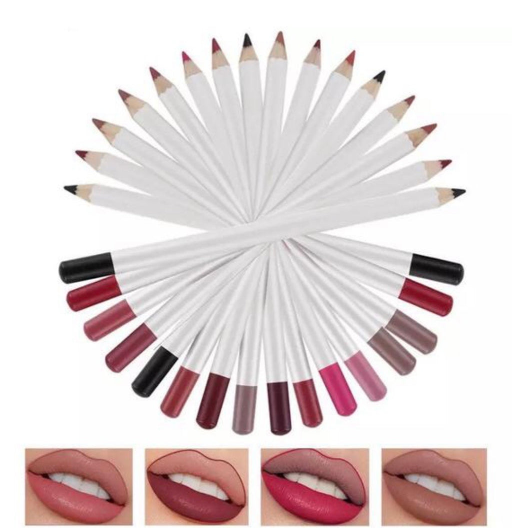PRIVATE LABEL 100 piece Wholesale Waterproof ,PREMIUM Quality, High Pigment, Matte Long-Lasting Eyeliner/Lip-Liner Liner Pencil 16 shades