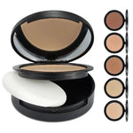 PRIVATE LABEL 100 piece, Wholesale Luxury PREMIUM quality, Matte Nude Compact Face Powder, Long Lasting and Concealing with Mirror and Sponge  (5 shades)