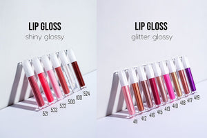 PRIVATE LABEL, Wholesale Luxury PREMIUM quality pre-filled Nude Shimmer Shiny Lipgloss . 15 colours (Free Shipping)