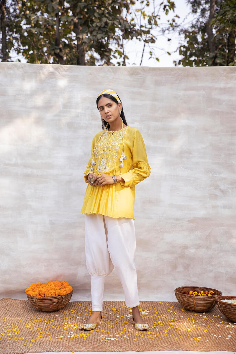 Utsav Silk Chanderi Top